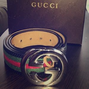 Authentic Mens Classic Gucci Belt 90cm/36in